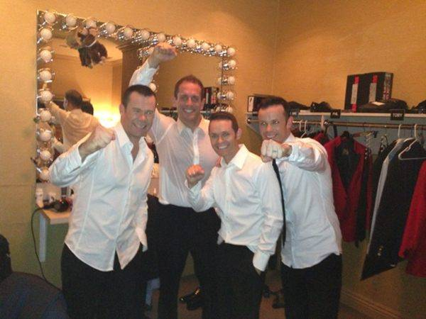 Human Nature backstage in their Venetian showroom on Friday, Feb. ...