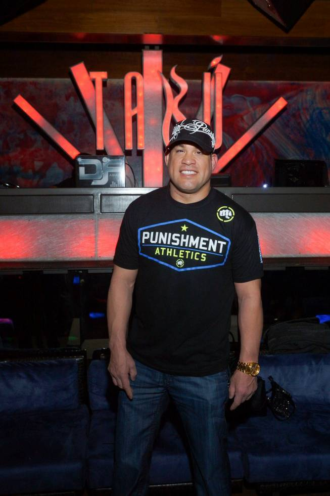 Tito Ortiz promotes his new business Punishment Athletics at Tabu in MGM Grand.