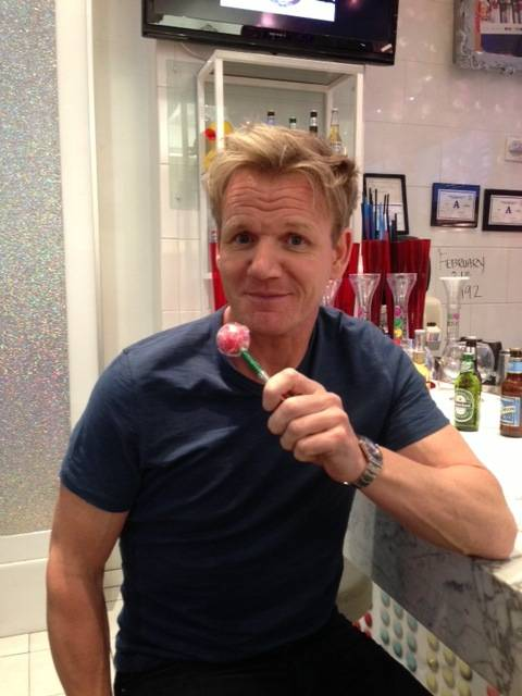Gordon Ramsay at Sugar Factory in Miracle Mile Shops at Planet Hollywood.