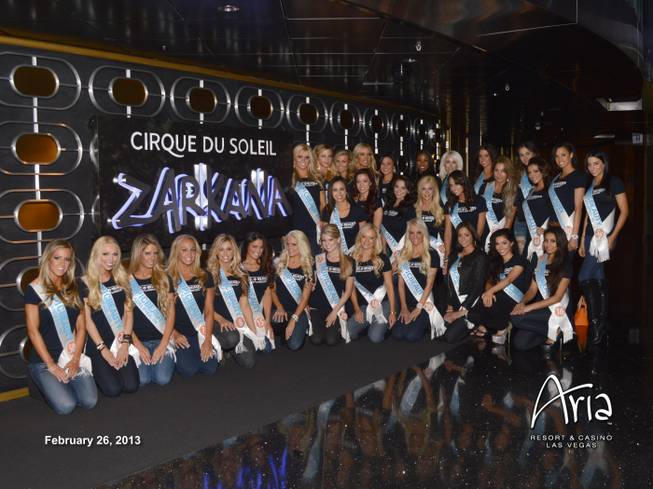 "2013 Tropic Beauty contestants attend ""Zarkana"" at Aria on Tuesday, Feb. 26, 2013."