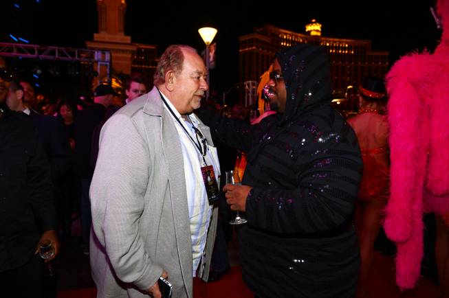 Robin Leach and CeeLo Green at Planet Hollywood on Wednesday, Feb. 27, 2013.