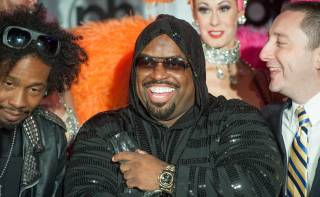 CeeLo Green arrives at his new residency home of Planet Hollywood on Tuesday, Feb. 26, 2013.