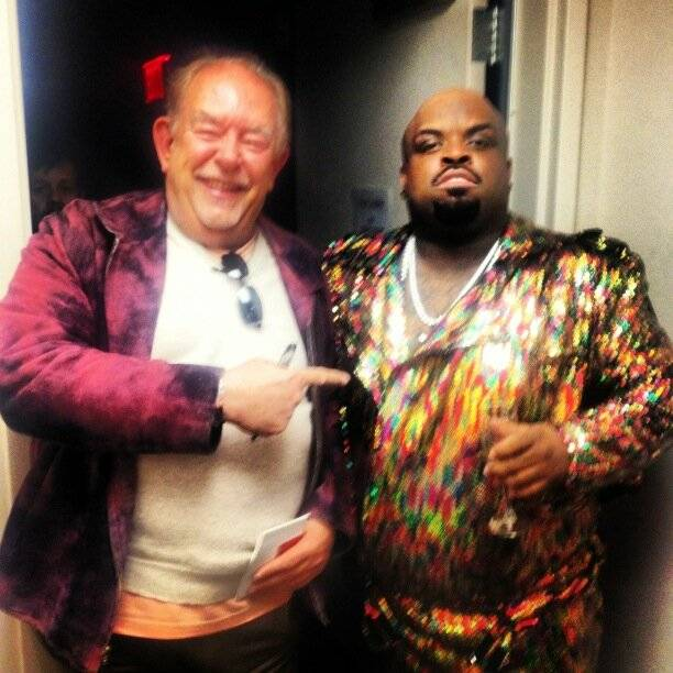 "Robin Leach and CeeLo Green backstage after the premiere of ""CeeLo Is Loberace"" at Planet Hollywood on Wednesday, Feb. 27, 2013."