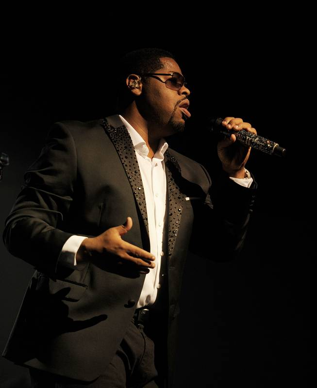 Nate Morris of Boyz II Men performs during opening night of Boyz II Men's residency at The Mirage on Friday, March 1, 2013.