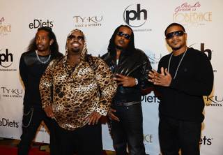 Big Gipp, CeeLo Green, Khujo and T-Mo arrive for the official opening night of