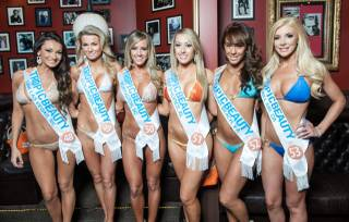 Swimsuit judging for the 2013 Tropic Beauty Model Search at Brad Garrett's Comedy Club in MGM Grand on Friday, March 1, 2013.