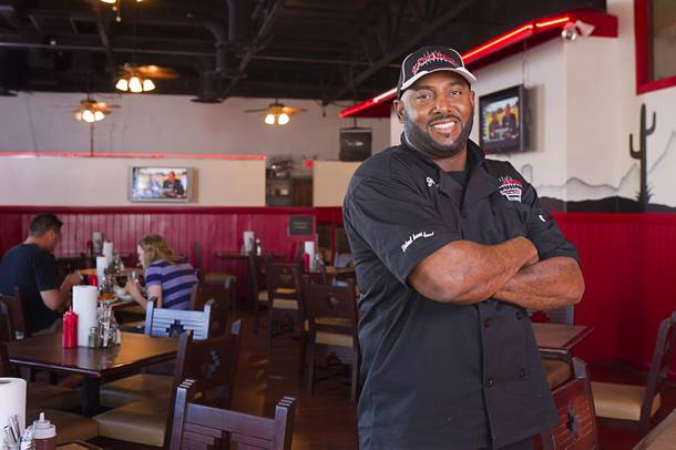 Chef and owner Jimmy Cole at his Top Notch Barbeque restaurant at Serene and Eastern avenues. The restaurant is in the same building but is separate from the Doc Holliday's tavern.