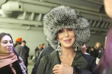 While music legend Cher caused a stir over her decision to wear fur at Paris Fashion Week this week, rumors grew here that Las Vegas is in her plans ...