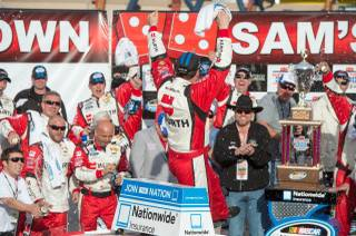 The 2013 NASCAR Nationwide Series Sam's Town 300 won by Sam Hornish Jr. at Las Vegas Motor Speedway on Saturday, March 9, 2013.