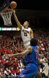 Former Findlay Prep player Nick Johnson, shown playing earlier this year for Arizona, will return to Las Vegas March 13 for the Pac-12 Conference Tournament with the Wildcats.