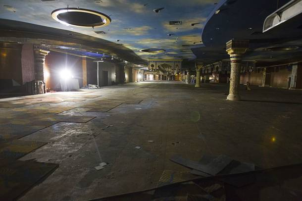 The casino floor is shown during a tour of work on the SLS Las Vegas resort, formerly the Sahara, Wednesday, March 13, 2013. The renovated resort is expected to open in the fall of 2014.