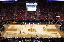 New Mexico takes on Wyoming during their Mountain West Conference Tournament game Wednesday, March 13, 2013, at the Thomas & Mack Center.