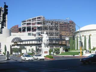 The Colosseum at Caesars Palace under construction.