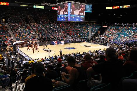 UCLA takes on Arizona State during their Pac-12 Basketball Tournament game Thursday, March 14, 2013, at MGM Grand Garden Arena.