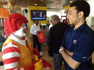 Findlay Prep basketball player Nigel Williams-Goss was honored at a local McDonald's Thursday, March 14, 2013, for being selected to play in the annual McDonald's All-American game. He'll become the seventh Findlay player in five years to play in the prestigious high school all-star game.