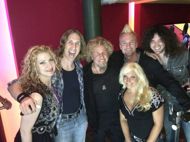 Sammy Hagar, center, and Cash Presley at Cabo Wabo Cantina in Planet Hollywood.
