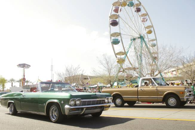 A classic car show followed the St. Patrick's Day Parade in downtown Henderson, Saturday, Mar. 16, 2013.