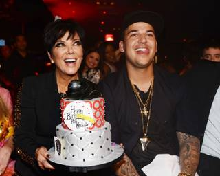 Rob Kardashian celebrates his 26th birthday with mom Kris Jenner at 1 OAK in The Mirage on Friday, March 15, 2013.