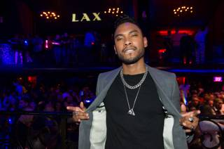 Miguel hosts and performs at LAX in Luxor after opening for Alicia Keys at Mandalay Bay Events Center on Friday, March 15, 2013.