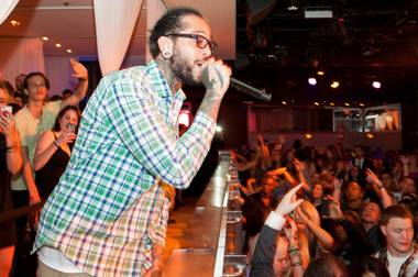 Travie McCoy hosts and performs at Pure in Caesars Palace on Saturday, March 16, 2013.