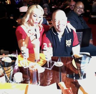 Coco Austin's surprise 34th birthday party with husband Ice-T at Gordon Ramsay BurGR in Planet Hollywood on Sunday, March 17, 2013.