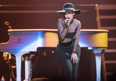 "Alicia Keys' ""Set the World on Fire Tour"" stop at Mandalay Bay Events Center on Friday, March 15, 2013."