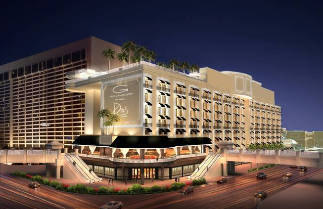 An imagining of the new Gansevoort Las Vegas. The new boutique resort replacing Bill's Gamblin' Hall & Saloon is slated to open in early 2014.