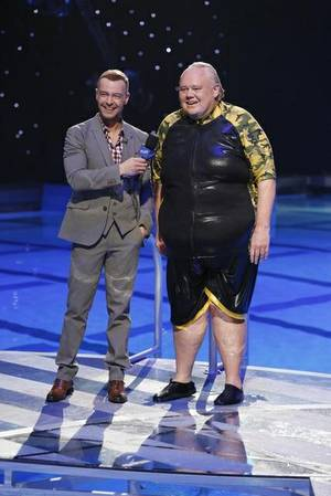 "Joey Lawrence and Louie Anderson on the premiere of ABC's ""Splash"" on Tuesday, March 19, 2013."