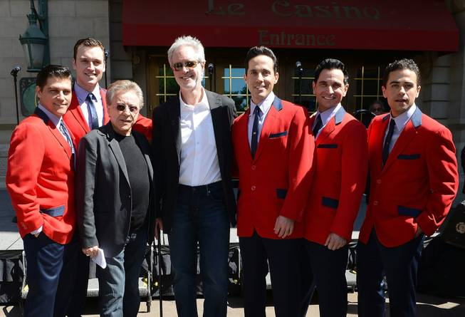 Frankie Valli, Bob Gaudio and and the cast of