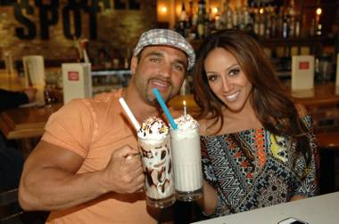 Joe and Melissa Gorga at Carla Pellegrino's Meatball Spot in Town Square.