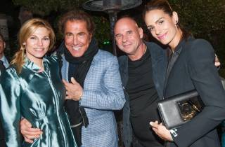 Andrea Wynn, Steve Wynn, Guy Laliberte and Claudia Barilla attend the afterparty for Cirque du Soleil's