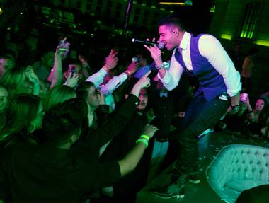 Jay Sean hosts and performs at the second-anniversary party of Chateau Nightclub & Gardens in Paris Las Vegas on Friday, March 22, 2013.