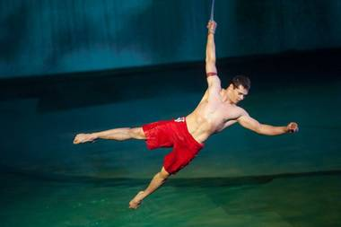 "Cirque du Soleil's spectacular, one-night-only benefit show ""One Night for One Drop"" at Bellagio on Friday night is now a 90-minute Internet telecast ..."