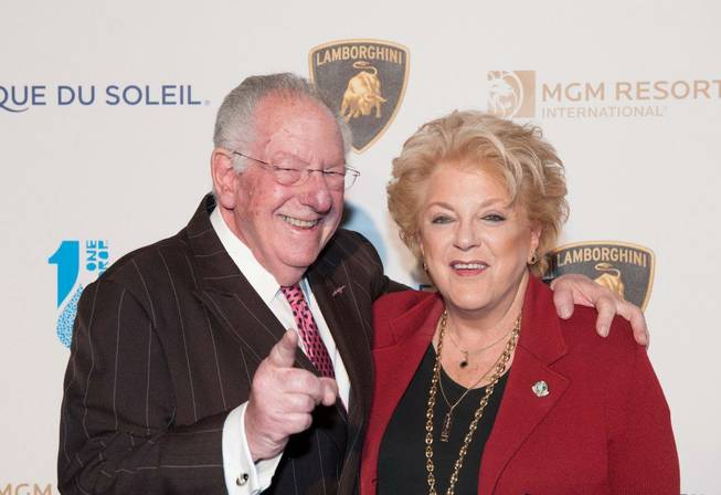 "Former Mayor Oscar Goodman and Mayor Carolyn Goodman arrive on the blue carpet for Cirque du Soleil's ""One Night for One Drop"" at Hyde Bellagio on Friday, March 22, 2013."