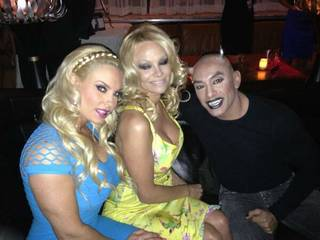 Coco Austin, Pamela Anderson and Jesus Villa attend the