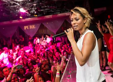 Keri Hilson hosts and performs at Pure in Caesars Palace on Saturday, March 23, 2013.