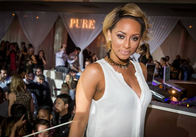 Keri Hilson hosts and performs at Pure in Caesars Palace ...
