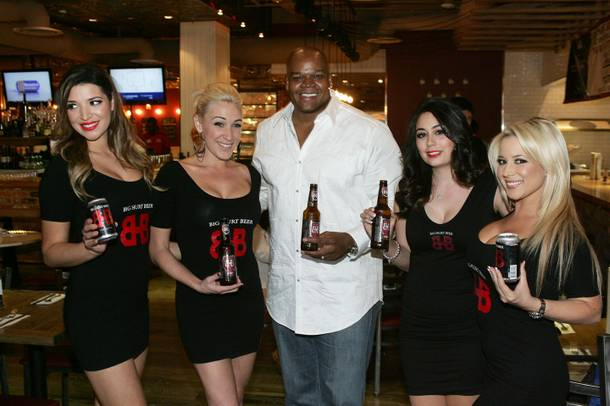Frank Thomas launches Big Hurt Beer at Carla Pellegrino's Meatball Spot in Town Square.