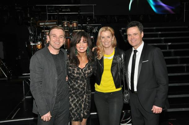 Rick Schroder, Marie Osmond, Andrea Schroder and Donny Osmond at Flamingo.