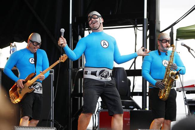 The Aquabats perform during the Extreme Thing Sports & Music Festival at Desert Breeze Park.Saturday, March 30, 2013.