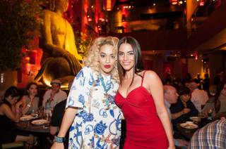 Rita Ora and Jessica Lowndes at Tao in The Venetian on Saturday, March 30, 2013.