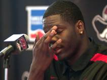 UNLV's Anthony Bennett announces Monday, April 1, 2013, that he is leaving for the NBA Draft.