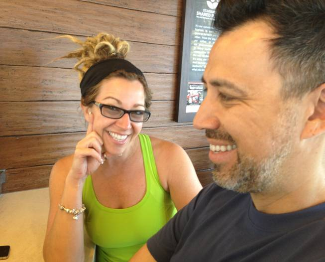 Fresh from her training session at Real Results downtown, Staci Linklater, left, and husband, James Reza, owners of Globe Salon, say they will have auditions for new employees April 8.