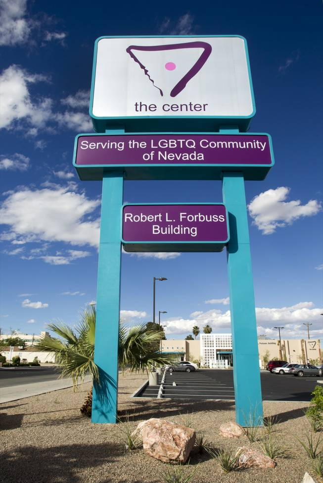 A marquee sign is shown in front of the Gay and Lesbian Community Center of Southern Nevada, 401 S. Maryland Parkway on Monday, April 1, 2013. There will be a grand opening for the center on Saturday, April 6, from 10 a.m. to 4 p.m.