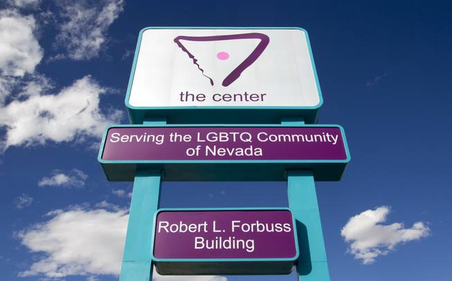 A marquee sign is shown in front of the LGBTQ (lesbian, gay, bisexual, transgender, questioning) Center/Robert L. Forbuss Building, 401 S. Maryland Pkwy, Monday, April 1, 2013. There will be a grand opening for the center on Saturday, April 6, from 10 a.m. to 4 p.m.