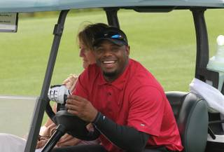 Ken Griffey Jr. competes in the 2013 Michael Jordan Celebrity Invitational Golf Tournament at Shadow Creek on Thursday, April 4, 2013, in Las Vegas.