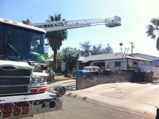 Henderson Fire Department responded to a fire that started on the 100 block of Ocotillo Street on Friday, April 5, 2013.