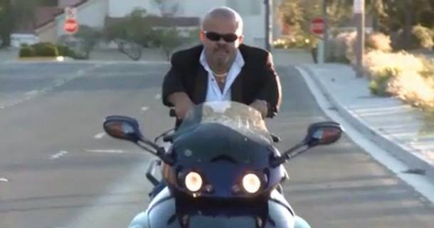 Brian Thomas, letting it ride on his Can-Am Spyder.
