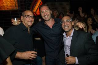 Jason Strauss, center, with Marc Packer and Lou Abin, celebrates his birthday at Lavo in the Palazzo on Friday, April 5, 2013.