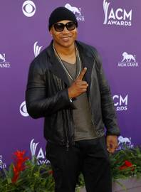 LL Cool J arrives for the 48th ACM Awards at the MGM Grand Sunday, April 7, 2013.